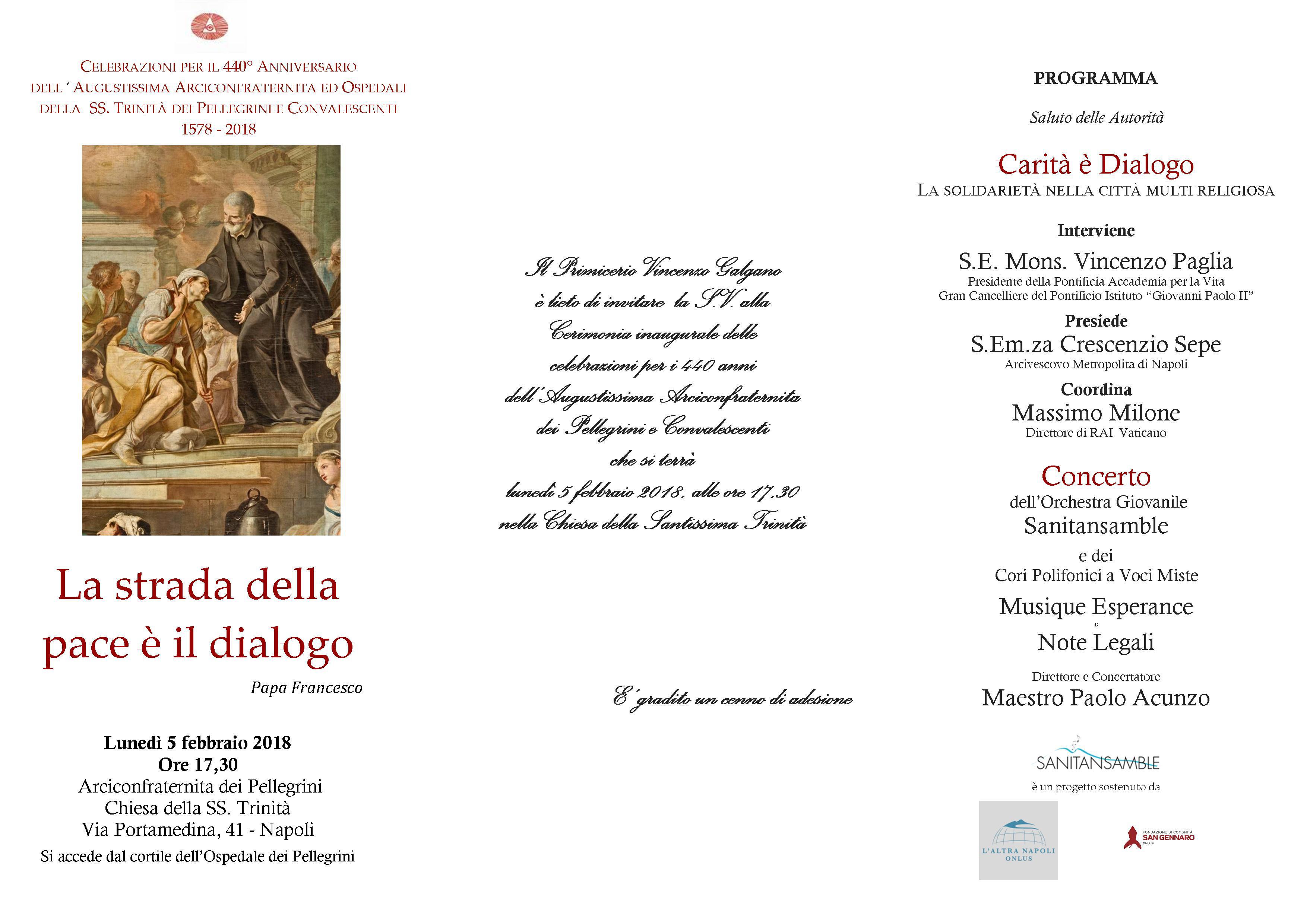 I 440 anni dell'Arciconfraternita del Pellegrini. Napoli, 5 febbraio 2018